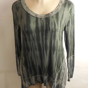 NWT- Green Multi Color Tunic Knox Rose Brand